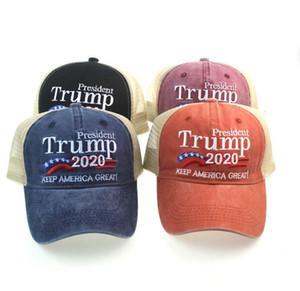président Trump 2020 Hat Keep America Great Baseball Cap lavé chapeau casquette sport extérieur président républicain Mesh KKA7867