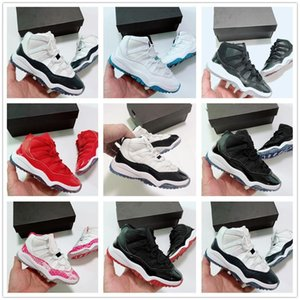 XI 11s Gym red Kids Basketball Shoes Navy Blue Snakeskin Pink Concord Children 11 Boys Girls Sneaker Toddler Space Jam Sports Trainer