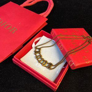 Şık Lüks tasarımcı takı hip hop takı kadınlar balo kolye altın zincir iyi akşam takı için tasarımcı kolye kolye
