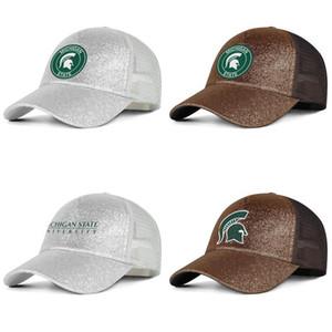 Michigan State Spartans Fußball alt Print Logo-Männer und Frauen kühles Pony Hut, Mütze, Design trendy baseballhats rundes Logo Homosexuell personalisierten