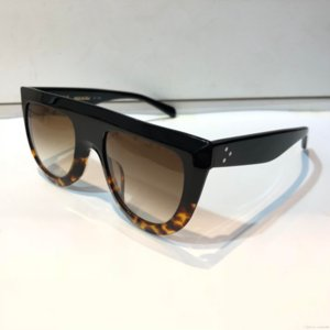 Nuevo diseñador de la marca de las mujeres de lujo gafas de sol CE41398 gafas de sol audrey diseño de abrigo unisex modelo marco grande leopardo marco de doble color