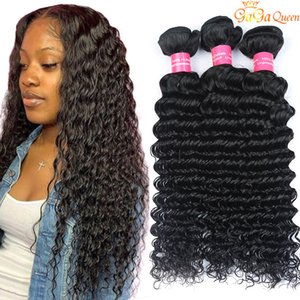 4 Pacotes negócio peruana onda profunda cabelo peruano cabelo Pacotes Cabelo peruana Virgin Humano onda profunda Curly tramas nenhum emaranhado