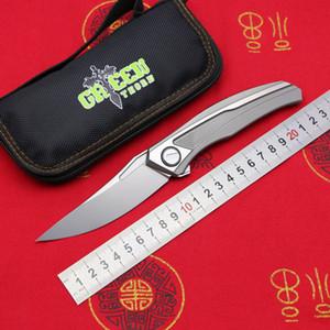 Vert Thorn quantique couteau pliant lame D2 TC4 poignée de titane couteau pliant chasse camping en plein air survivre fruits poche knive