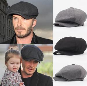 Yün Sekizgen Cap Newsboy Bere Erkek Erkek Baba Ivy Caps Golf Sürüş Düz Cabbie Düz Şapkalar Sonbahar Kış Zayıf Peats