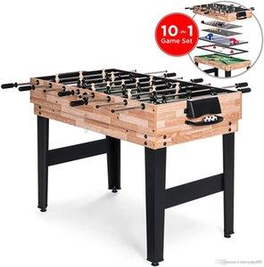 Migliori Prodotti Choice 2x4ft 10-in-1 Combo Game Table Set w / biliardo, calcio balilla, ping pong, Hockey, Bowling, Scacchi e Altro