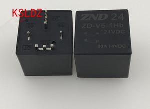Free shipping lot (5 pieces lot) original New ZD-V5-1Hb-12VDC ZD-V5-1Hb-24VDC 80A14VDC 4PINS Automobile relay