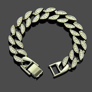 Mens Diamond-Set Hip Hop Bracelet