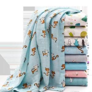 Recém-nascido de gavetas Cobertores Crianças Limões Plantas Animais Impresso Swaddling Quilts fibra de bambu Verão Quilt cobertor macio toalha de banho WY161Q