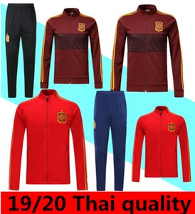 2019 2020 Spagna adulto Giacca Tuta camiseta España Morata A.INIESTA FABREGAS JOAO FELIX MESSI di calcio Real Madrid tuta Training Jacket