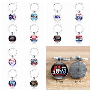 12 Styles JOE Biden 2020 Keychain Pendant Joe Biden For President Keyring US President Badge Key Chain Party Favor ZZA2200 600Pcs