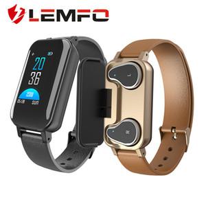 LEMFO T89 الذكية للرجال ووتش مع سماعات بلوتوث المرأة الذكية ووتش IP67 دعم سيري BT دعوة للياقة البدنية سوار الذكية باند