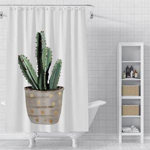 Custom Beautiful leaves Waterproof Shower Bath Curtain Printed Bathroom Decor Various Sizes#2020-06-04-8