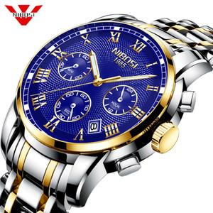 NIBOSI superior de la marca de lujo reloj de los hombres 30m impermeable Reloj de la fecha de deportes masculino hombres de los relojes de cuarzo reloj de pulsera informal Relogio Masculino