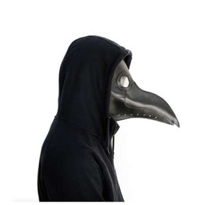 Plague Doctors Mask PU Leather Clear Resin Lenses Beaked Face Masks for Halloween Steampunk Costume Party Caribbean Masks
