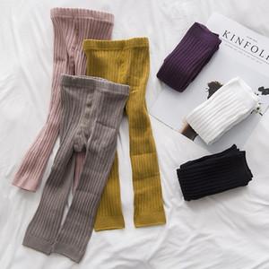 6 styles de filles de garçon Leggings Filles Collants Double Aiguilles Pantalons Ninth taille haute chaud pur coton Bas Chaussettes et pantalons 0-6T M700