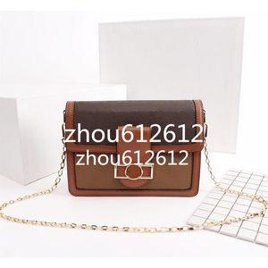 Última llegada bolsos de hombro de la cadena del cuero del patrón y dos correas Dauphiné bolso de la mujer del alfabeto Bolsa Crossbody Metis Tamaño 25x19x9cm M43599