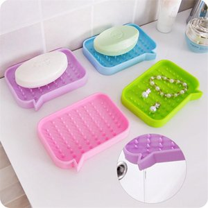 Silicone Soap Box Drainable Soap Dish Storage Convenient Practical Eco-Friendly Plate Tray Bathroom Shower Soap Holder