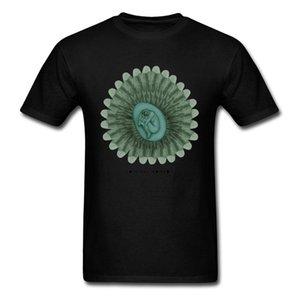 T 셔츠 인간 T 셔츠 남성의 출생 괴짜 Tshirt 검은 녹색 옷 아니 페이드 인쇄 탑스 목 코튼 티즈 만다라 디자이너