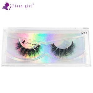 Wholesale Flash girl D series D17 Single line stem 3D 100% handmade real mink lashes Free shipping