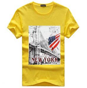 2020 new fashion men's T Shirt Cotton printed round neck short sleeve summer man shirt Tops Tees