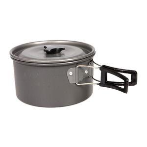 ortable Outdoor-Camping-Kochen Set Teekanne Kaffee Kessel Kochtöpfe und Pfannen Außen Geschirre Drop Shipping für 2-3 Personen