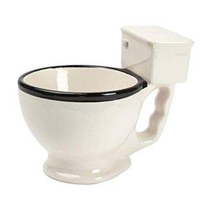 Aseo novedad taza de cerámica con la manija 300 ml Café Té Leche Copa de helado divertido para los regalos T191216