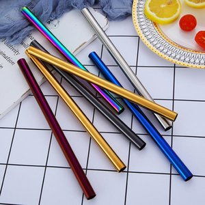 3Pcs Extra Wide Colorful Stainless Steel Drinking Straws Straight and Bent Reusable Filter With Brush DIY Tea Coffee Tools