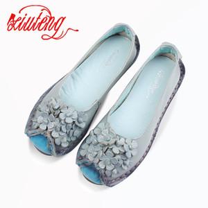 Xiuteng 2018 Verão suave Mocassins sapatos casuais mulheres Flores alta qualidade do couro genuíno sapatos de senhora Flats condução