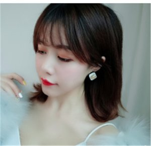 2020Luxury Designer Earrings with Red 22White Green Stone Women1 Jewelry Stud Letter Earrings with Crystal for Party