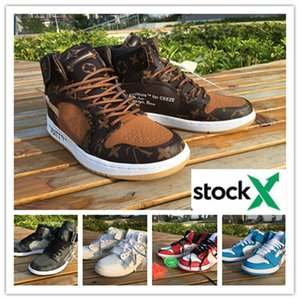 New arrival OFF 1 1s mens basketball shoes three limited fashion sneakers off trainers sports shoe white black Scotts X