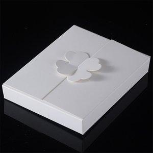 300 adet / grup 16 * 12.6 * 2.5 cm Kraft Kağıt Hediye Kutuları Kek bıçak ve çatal Ambalaj Kutusu DIY El Yapımı boş Favor Yonca Kağıt Kutuları