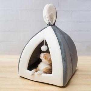 Pet Cat Lit Kitten intérieur Maison chaud Petit pour chats Chiens Nest Pliable Cave chat mignon couchage d'hiver Tapis Produits