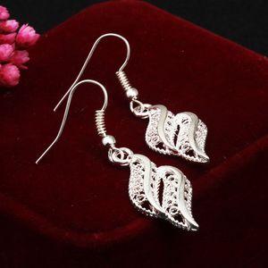 Onda temperamento brincos simples linha de ouvido jóias brincos longos por atacado