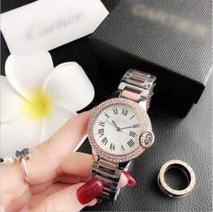 New 38mm mujer mode Marque complète des femmes montre de diamants simples dames numériques robe de luxe de femmes Montres Bracelet en or rose Horloge