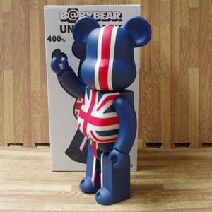 Eylem İngiliz Bayrağı Baskılı Ayı PVC Model DIY Bebekler LY191210 Boya Şekil tuğla @ 11inch% 400 bearbrick Ayı