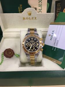 С оригинальной коробке высокого качества Часы 40мм 116503 116523 Sapphire 18K желтое золото Нет хронограф Механические Автоматические Мужские часы