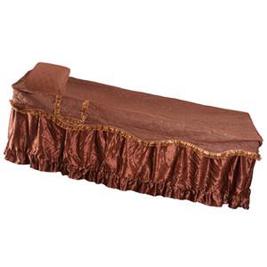 Spa Massage Tisch gesteppte Valance-Blatt-Abdeckung mit Gesicht Atemloch, Hervorgehoben Seitentasche für Schlüssel und Handys 75x31inch