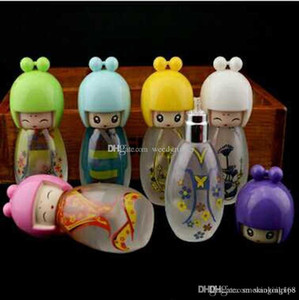 9cm mini Glass Lovely doll alcohol lamp for water oil rig bong hookah accessories free shipping