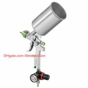 H-827 Аэрограф с Регулятором Воздуха 2.5 мм Сопло Профессиональный HVLP Air Paint Spray Gun Аэрограф Для Окраски Автомобиля Спрей Инструмент