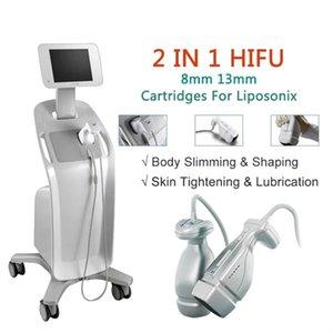 Yeni Stil Hifu makine ultrason ince liposonix zayıflama makineleri hifu ince makine ile 2 kafaları atış başına 576 nokta
