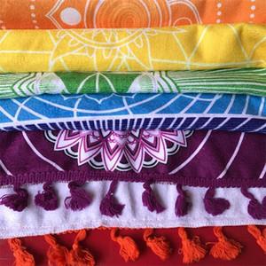 مادة ستوكات النسيج بوهيميا الهند ماندالا بطانية 7 شقرا rainbow المشارب نسيج الشاطئ منشفة اليوغا حصيرة حمام منشفة C19041201