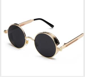 2019 europäische und amerikanische runde Persönlichkeit reflektierende Gläser Sonnenbrille für Männer und Frauen