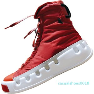 2019 Y3 Genuine Leather and Nylon Fashion Outdoors Boots 19ss Skydiving Theme Y3 Kasabaru Mix RB High Top Board Shoes c18