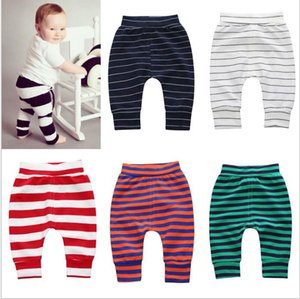 Newborn Infant Baby Boy Girl stripe Bottoms Leggings Harem PP Pants Trousers Kids Casual Legging pants