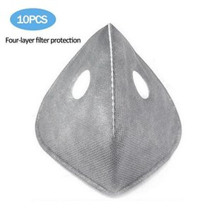 10pcs lot Cycling Face Masks Filter Mtb Road Cycling Equip Anti-dust Pm2.5 Replacement With Active Carbon Filter Protect 2020 Outlet 1LWZA