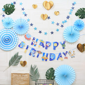 European and American cross-border exclusive wedding window background decoration paper fan flower honeycomb hollow Baby birthday party