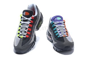 NIKE Air Max 95 Melhor Designer 95 OG Running Shoes 5s Ouro ar Bred Gym Laser Red Fuchsia Gradient Maxes Branco Classic Blue Black Men Sports Sneakers WW03