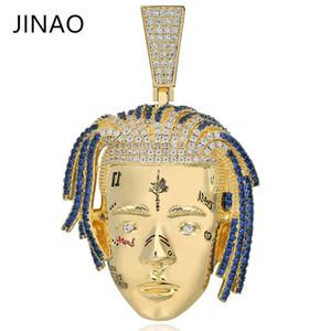 Mode Cubique Zircon Glacé Out Chain Or Xxxtentacion Pendentif Collier Hip Hop Bijoux Déclaration Colliers Pour Homme Femmes Cadeaux J190713