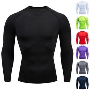 Hot Sale 2020 Long-sleeved T-shirt sports men's running T-shirt fitness sportswear sports men's compression sportswear