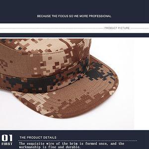 Caps clásico camuflaje Hombres Militares del Ejército Cadet sombreros de algodón ajustable Flat Top Patrulla Ropa Accesorios